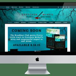 Gretchen McNeil Website iMac